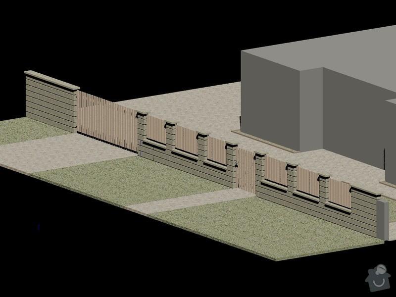 Venkovní pochozí plochy+stavba plotu: Sykora_plot_3D_2