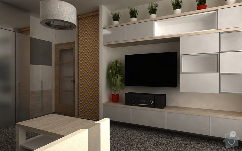 Návrh interiéru pokoje: byt05-uprava