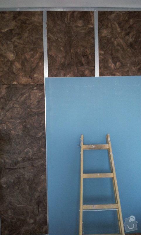 Odhlučnění mezibytové stěny v ložnici: 20120802_105435