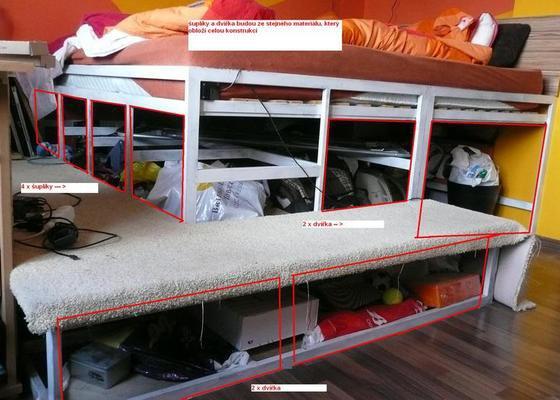 Dřevěný nábytek - obložení + šuplíky