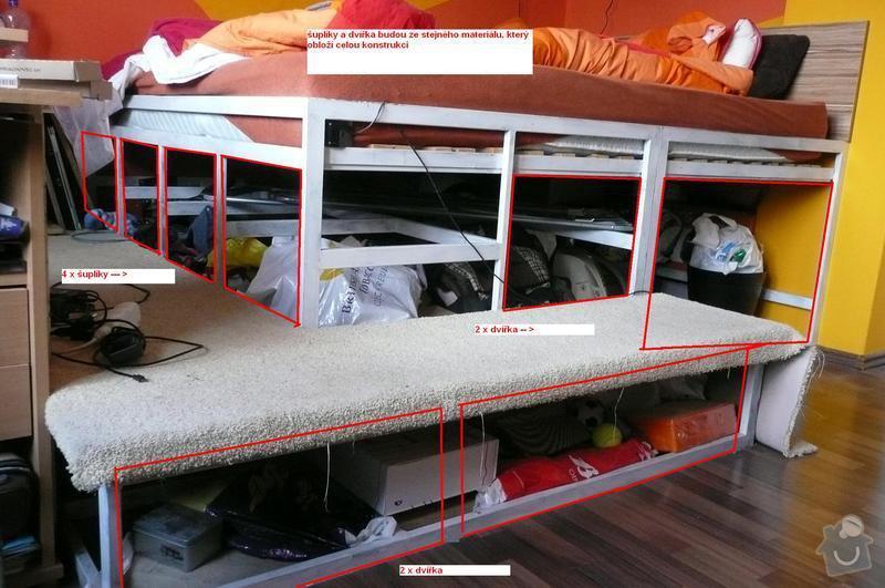 Dřevěný nábytek - obložení + šuplíky: postel_s_nakresem