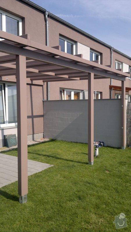 Zastřešená terasa u rodinného domu Plzeň: 2012-07-24-342