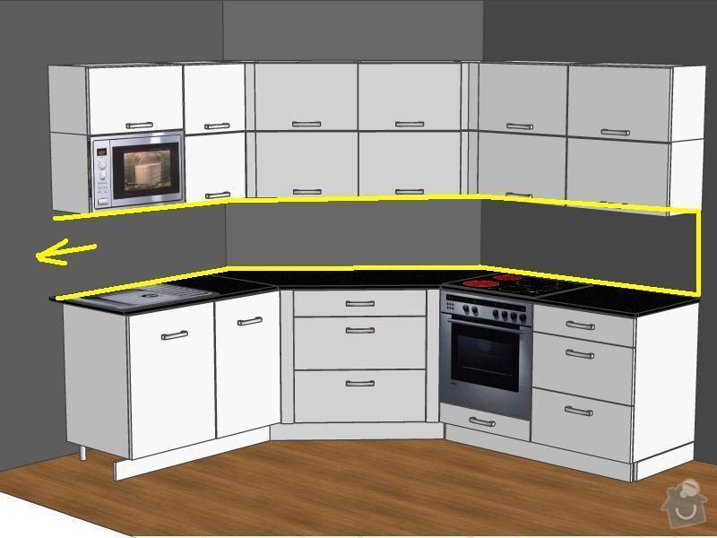 Obklad kuchyně mezi kuchyňskými skříňkami: kuchyne2
