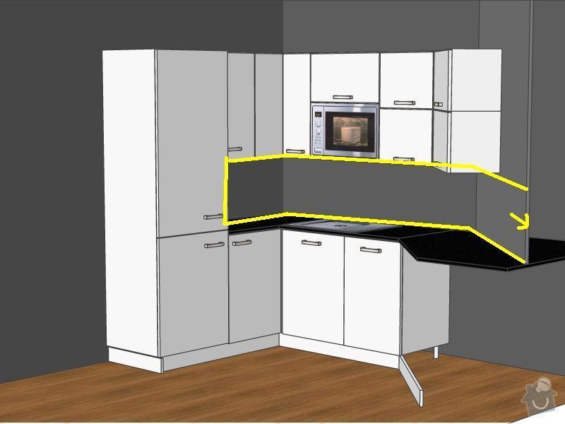 Obklad kuchyně mezi kuchyňskými skříňkami: kuchyne3