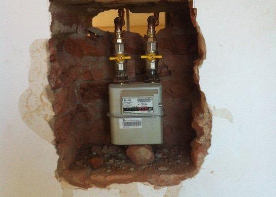 Zhotovení plynu v bytě
