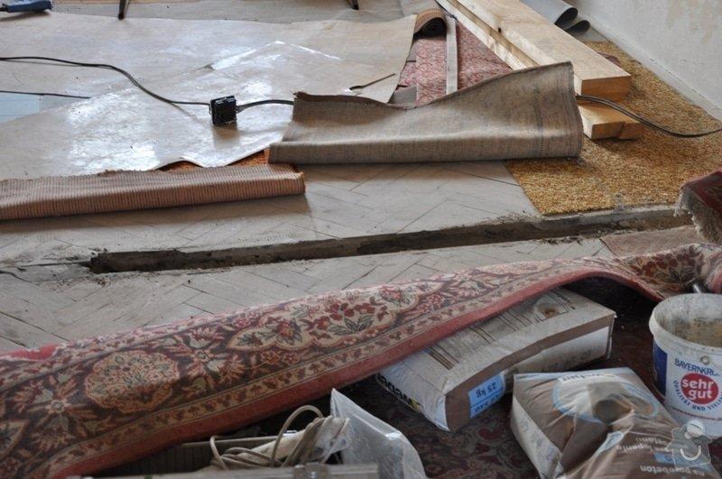 Dokládka dřevěné parketové podlahy: DSC_1890