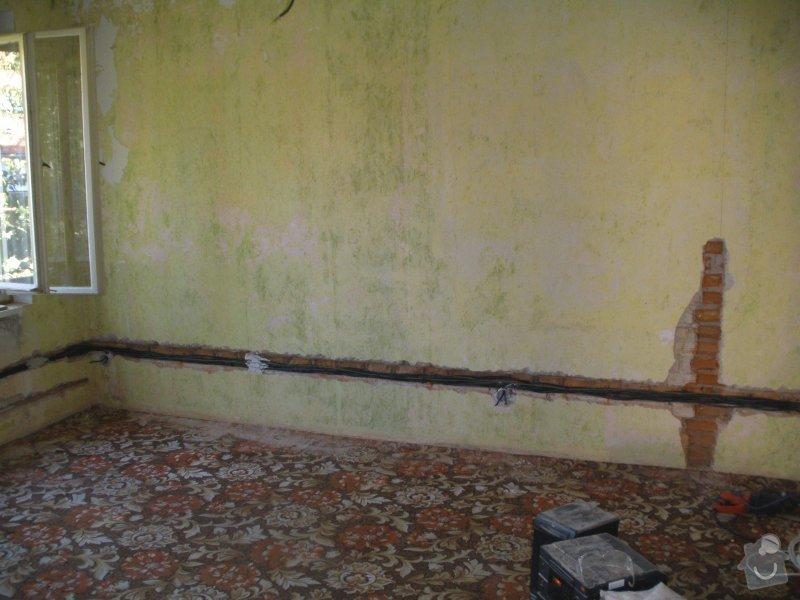 Začišťovací zednické práce při rekonstrukci RD: 1