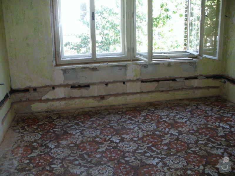 Začišťovací zednické práce při rekonstrukci RD: 2
