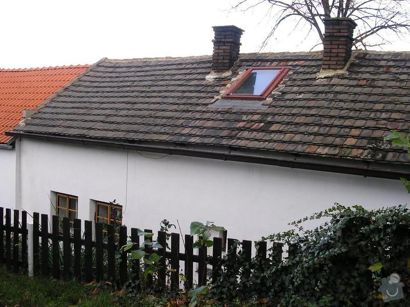 Pokládka střechy: Stav_r.2004