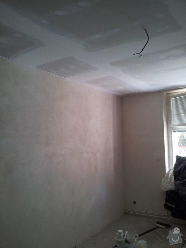 Montáž sádrokartonové Akustické předstěny, Sádrokartonový podhled s izolací, nově vyštukované zdi : akustika_01
