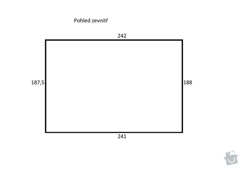 Garážová vrata dvoukřídlá: rozmery-zevnitr