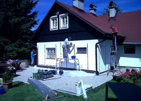 Obnovení nátěrů dřevostavby,oken a oplechování – výměna parapetů