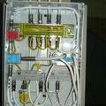 Instalace antenniho systemu s prepetovymi ochranami 1prepetovy rozvadec otevreny