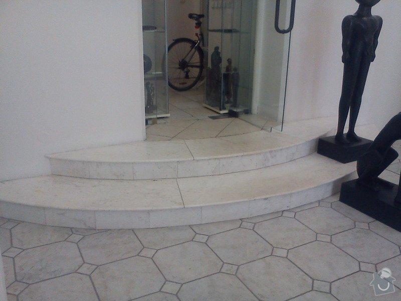 Zhotovení betonové podlahy 115 m2 : stupne