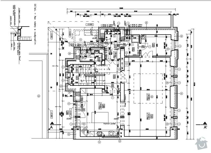 Sádrokartonové konstrukce - stropní podhledy: PD_pudorys_1NP