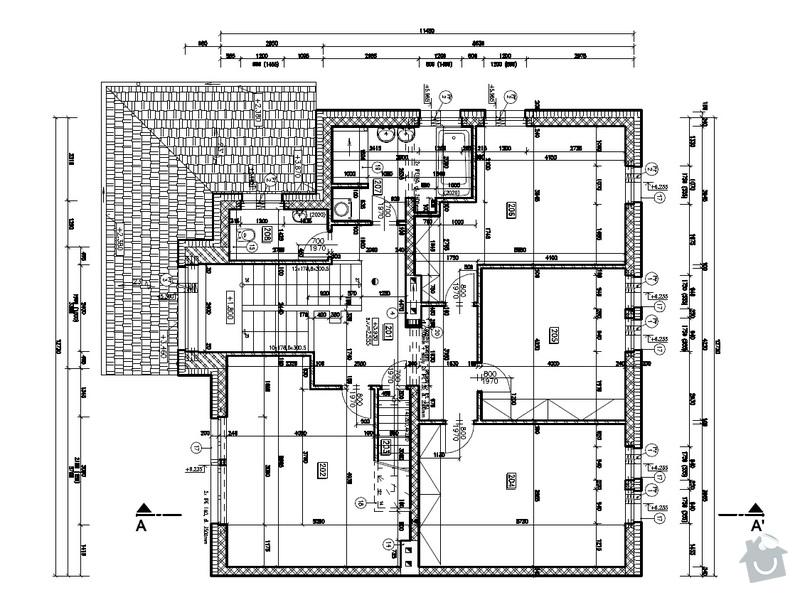 Sádrokartonové konstrukce - stropní podhledy: PD_pudorys_2NP