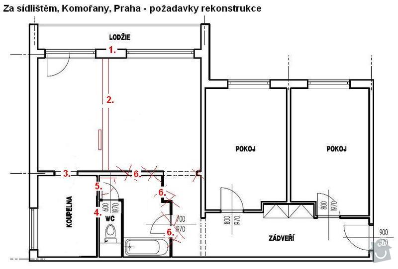 Kompletní rekonstrukcie 3+1, Komořany, Praha: 02_bourani_a_murovani