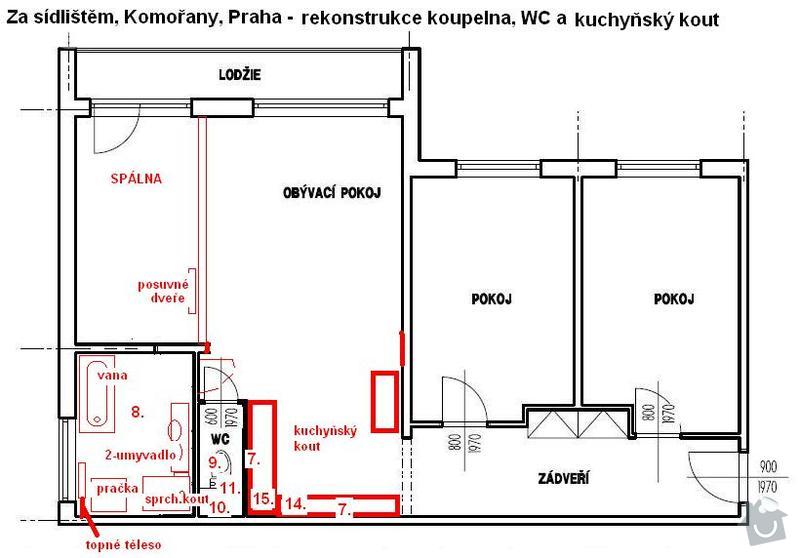 Kompletní rekonstrukcie 3+1, Komořany, Praha: 03_novy_stav
