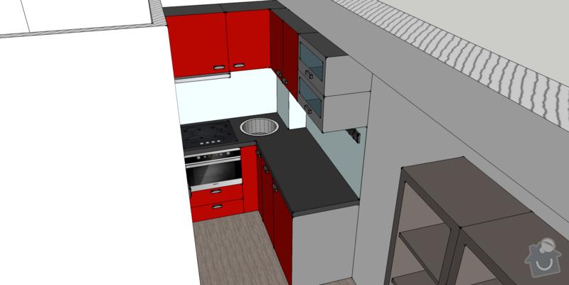 Kuchyňská linka na míru, vestavná šatní skříň: kuchyne1