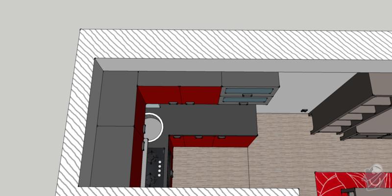 Kuchyňská linka na míru, vestavná šatní skříň: kuchyne2