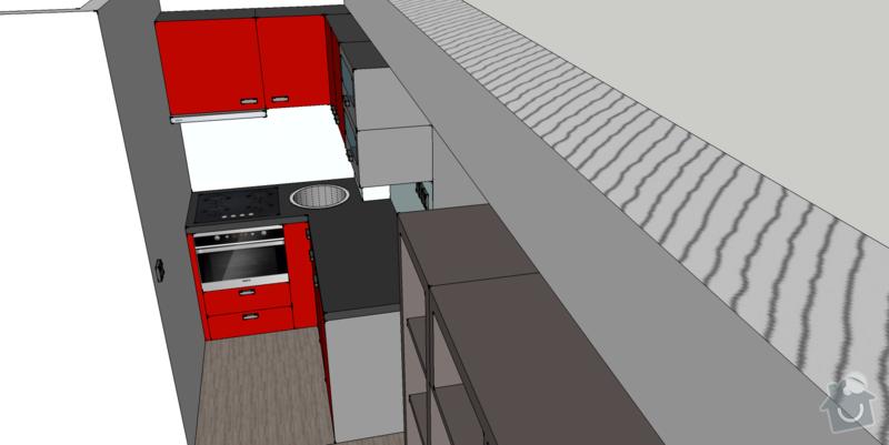 Kuchyňská linka na míru, vestavná šatní skříň: kuchyne3