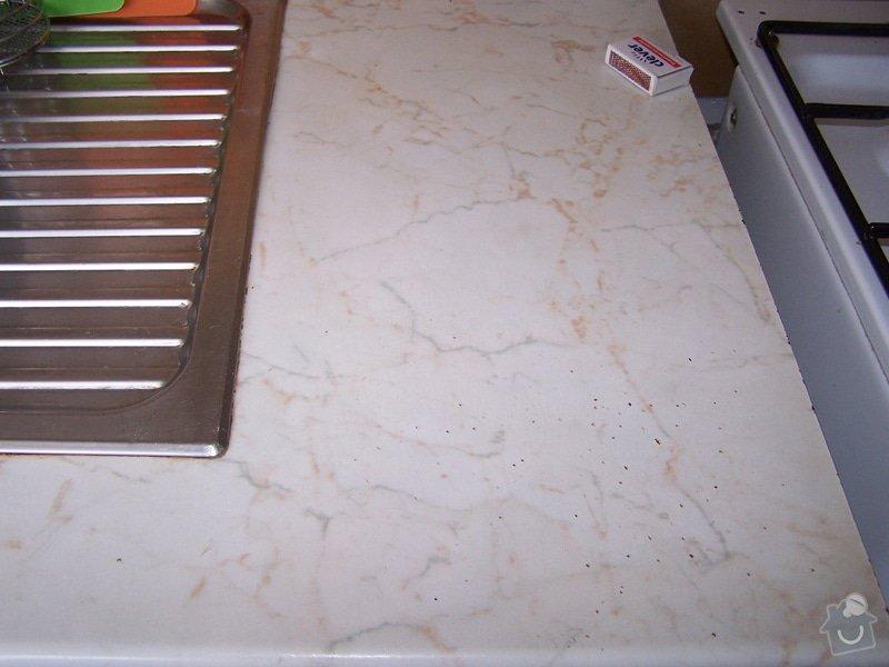 Instalace pracovní desky v kuchyni a oprava baterie: 100_6914