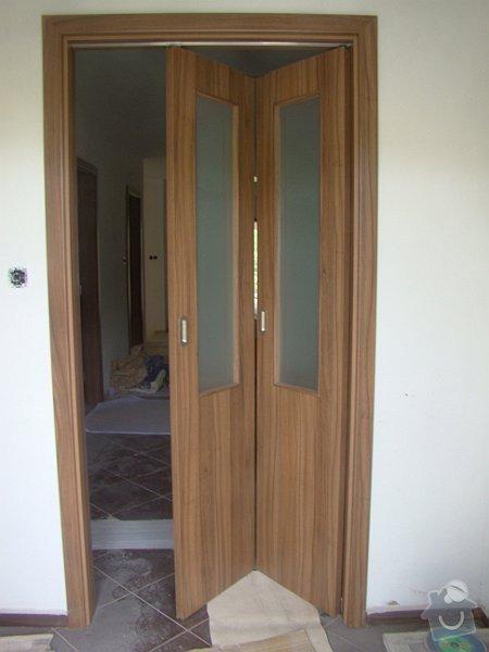Dodávka vnitřních dveří CPL ořech a dřevěné zábradlí: DSC09023-006