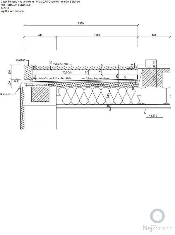 Konstrukce balkónu a zábradlí: dilensky_vykres_