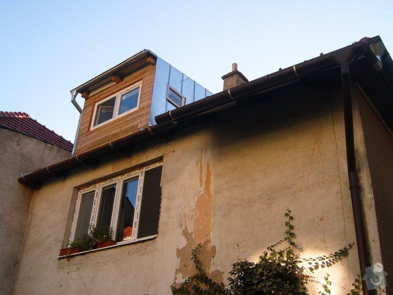 Podbití střechy, omítnutí půdní nádstavby: S3705440
