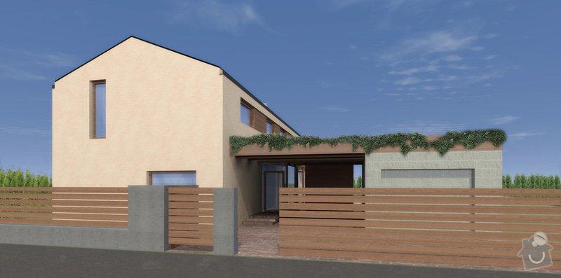 Architektonická studie, projekt pro stavební povolení a realizaci stavby: VB_ext_garazpri_vstup