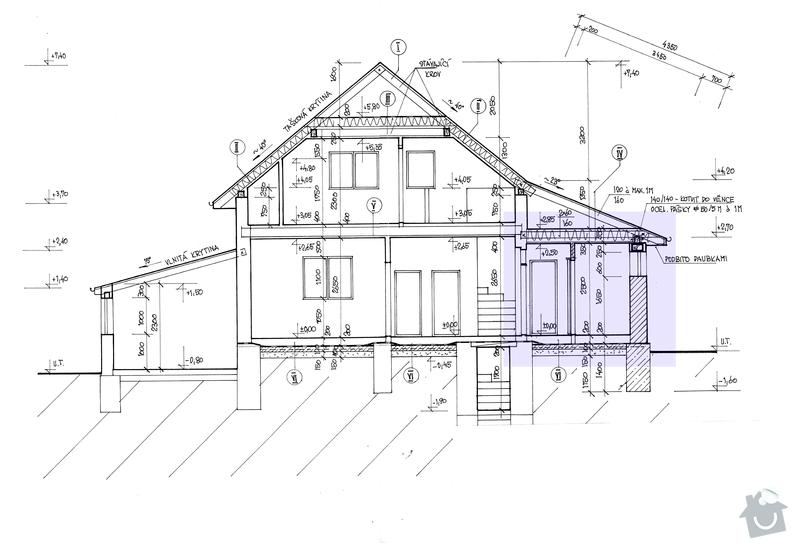 Přístavba rodinného domu: bokorys_konstrukce