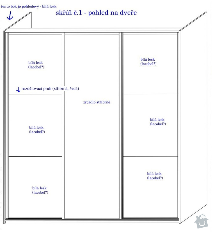 Vestavěné skříně na míru, posuvné dveře: skrin_1_-_pohled_dvere