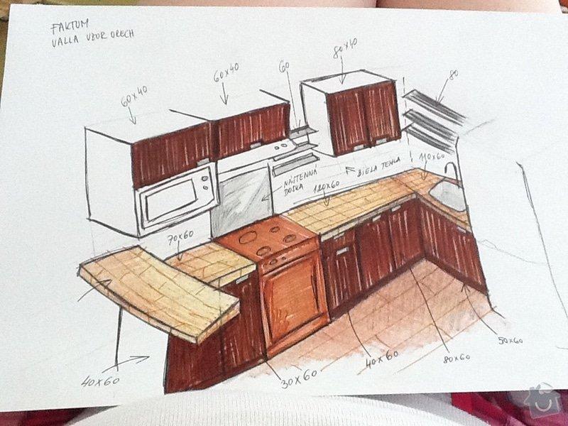 Rekonstrukce koupelny a kuchyně v Líšni: kuchnavrh