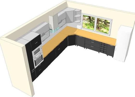 Výroba a montáž kuchyšké linky.