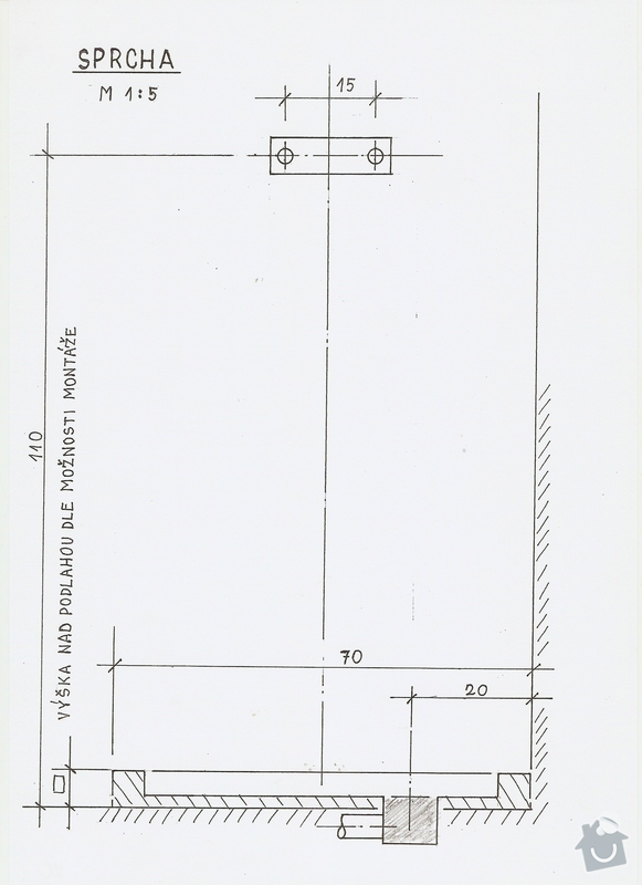 Rekonstrukce koupelny: SPRCHA