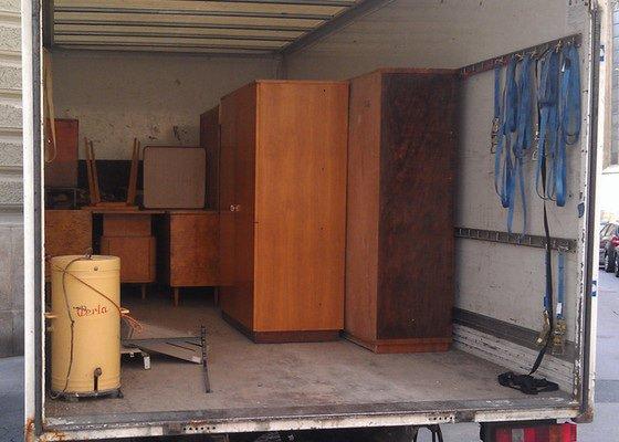 Vyklizení zbytku nábytku z bytu v centru Brna