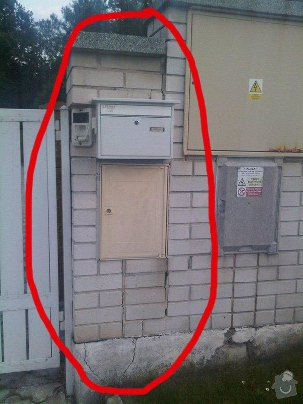 """Oprava """"kapličky"""" s přípojkou plynu / elektřiny: 1"""