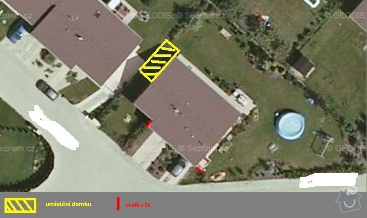 Střecha na zahradní domek: situace1