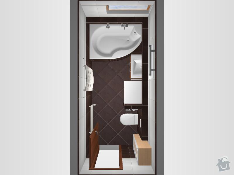 Kompletní rekonstrukce koupelny: 3D-01-Wenge