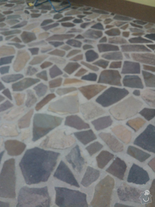 Pokládka přírodího kamene Andezit 20m2: WP_000459