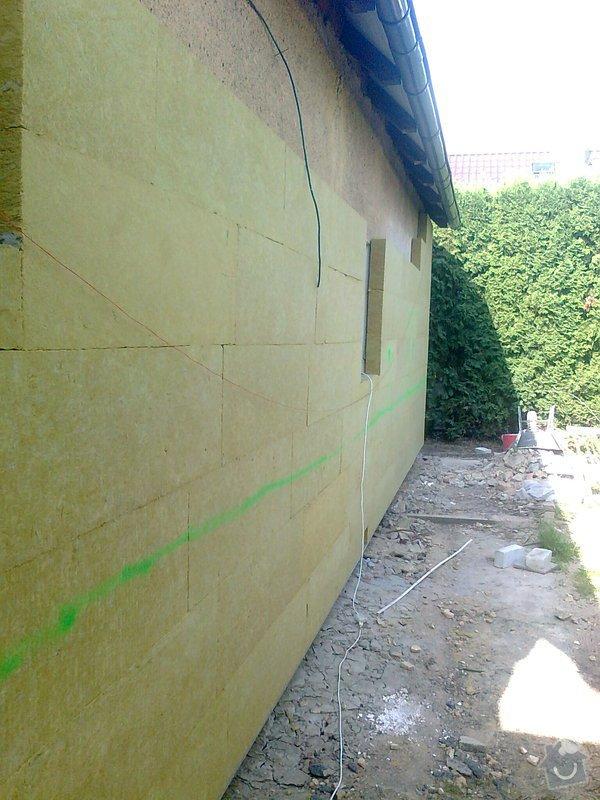 Zateplení, fasáda, obkopání domu, parapety, elektroinstalace: Fotografie0449