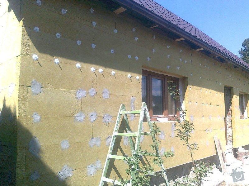 Zateplení, fasáda, obkopání domu, parapety, elektroinstalace: Fotografie0453
