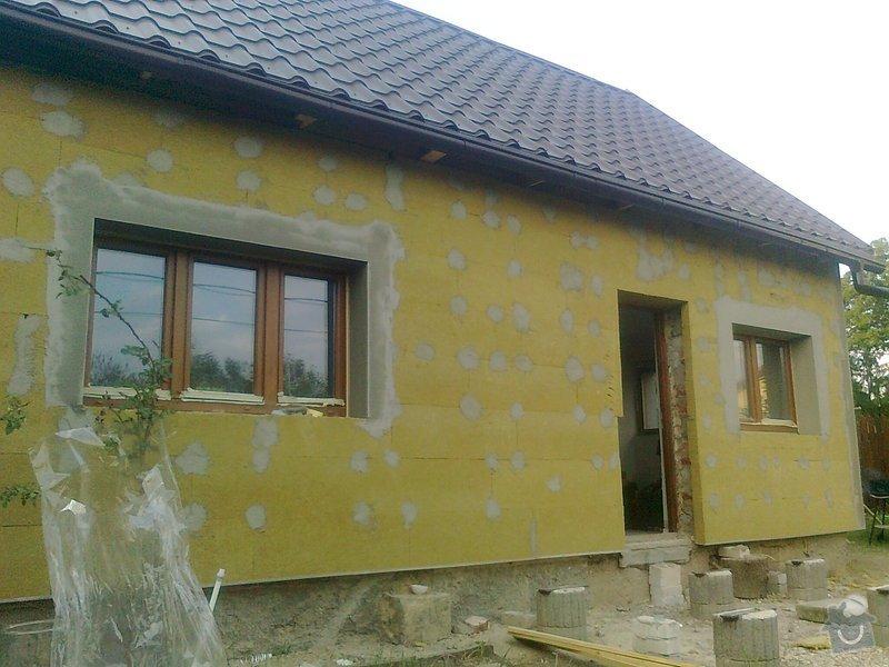Zateplení, fasáda, obkopání domu, parapety, elektroinstalace: Fotografie0458