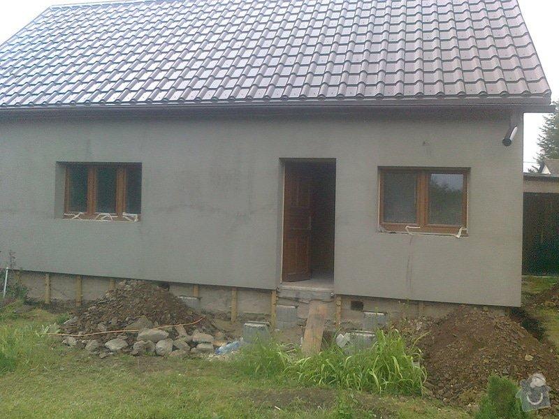 Zateplení, fasáda, obkopání domu, parapety, elektroinstalace: Fotografie0467