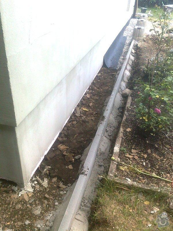 Zateplení, fasáda, obkopání domu, parapety, elektroinstalace: obkopani3