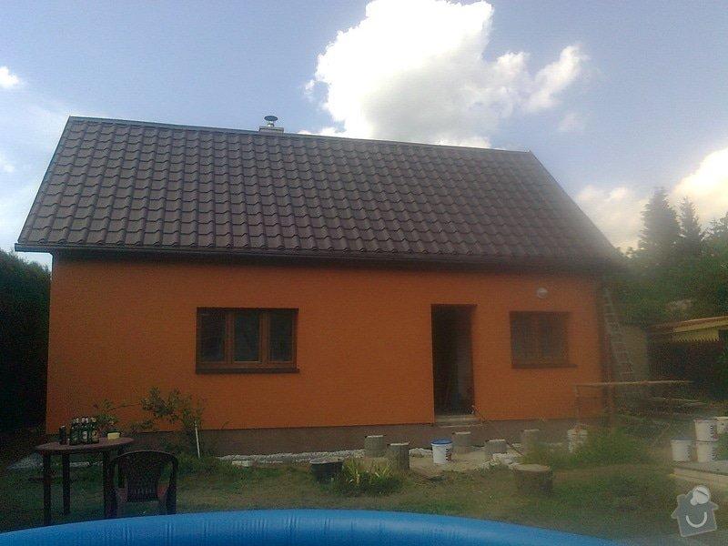 Zateplení, fasáda, obkopání domu, parapety, elektroinstalace: Fotografie0500
