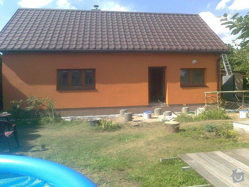 Zateplení, fasáda, obkopání domu, parapety, elektroinstalace: Fotografie0501