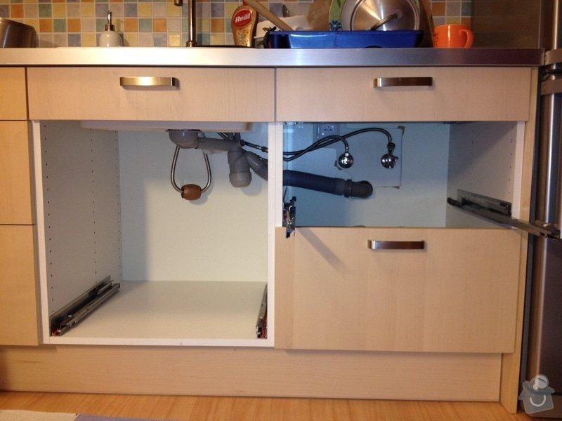 Předělání vodovodu a odpadu pod kuchyňskou linkou: mycka