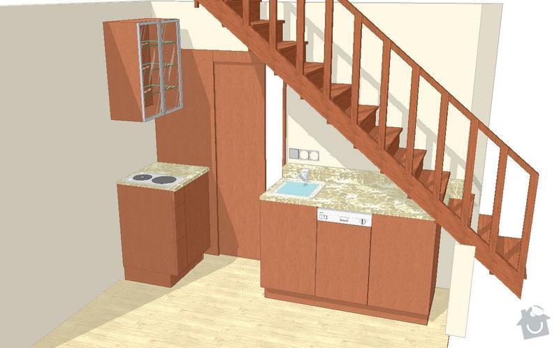 Na míru dělanou malou kuchyňskou linku, skříň a zásuvné dvěře: Kuchyn_nakres