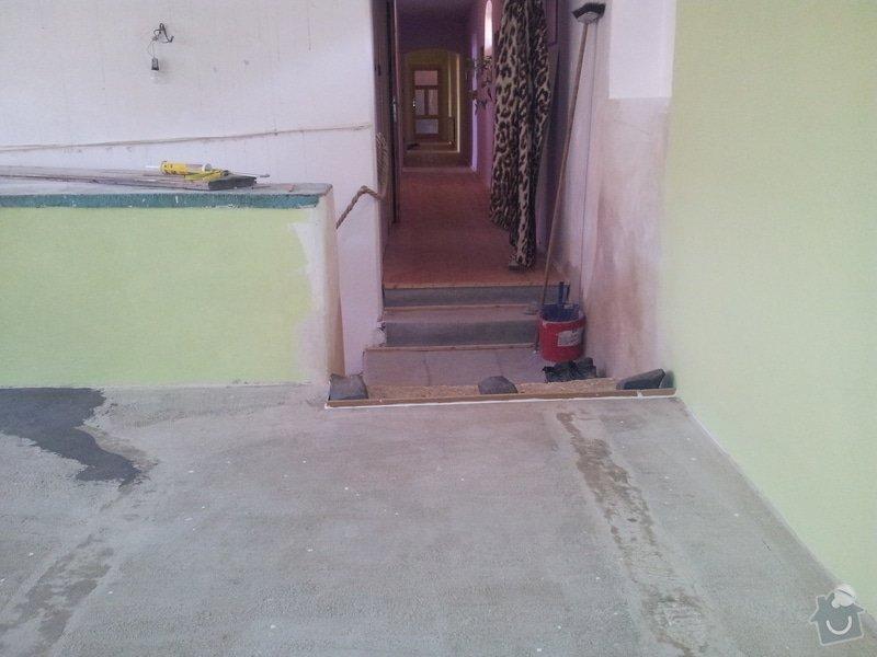 Marmoleum Home - Pokládka podlahy a obložení stěny: 20120908_110431